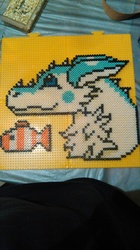 Perler Wall Art: Snow Pare's Pearl and Pearl Jr