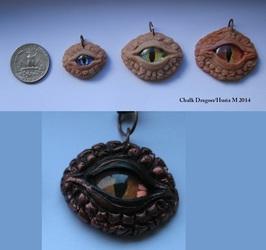 Dragon eye pendants- made to order