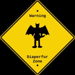 Diaperfur Zone Sign