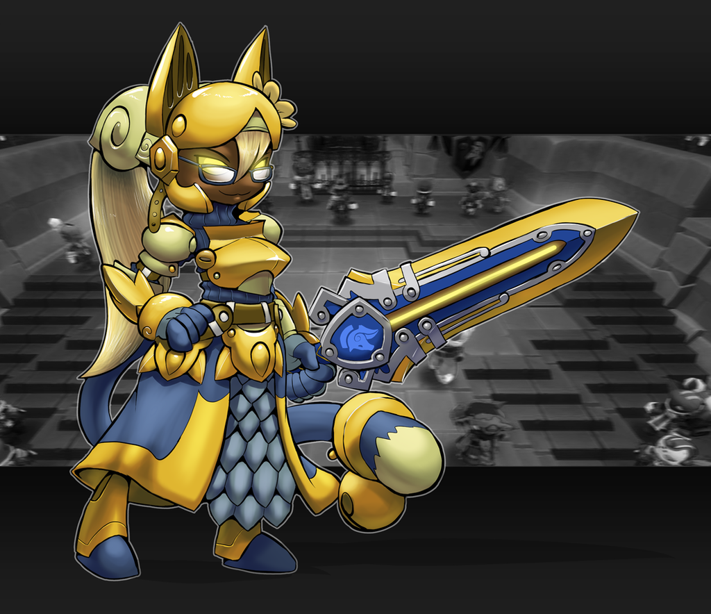 The Gilded Cat Knight