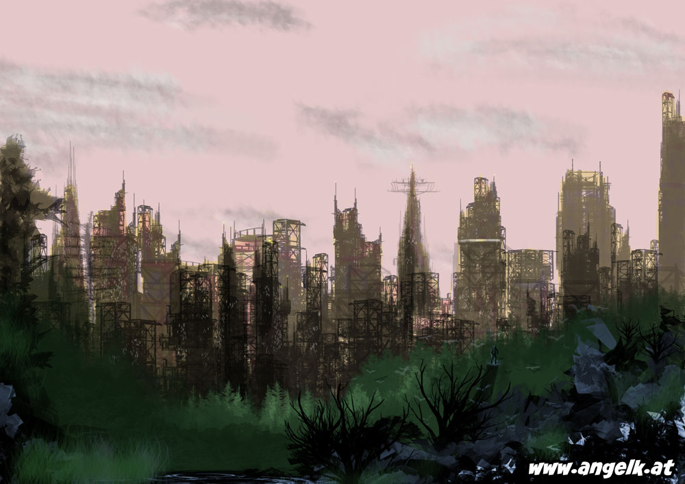 Speedpaint: Ruined City