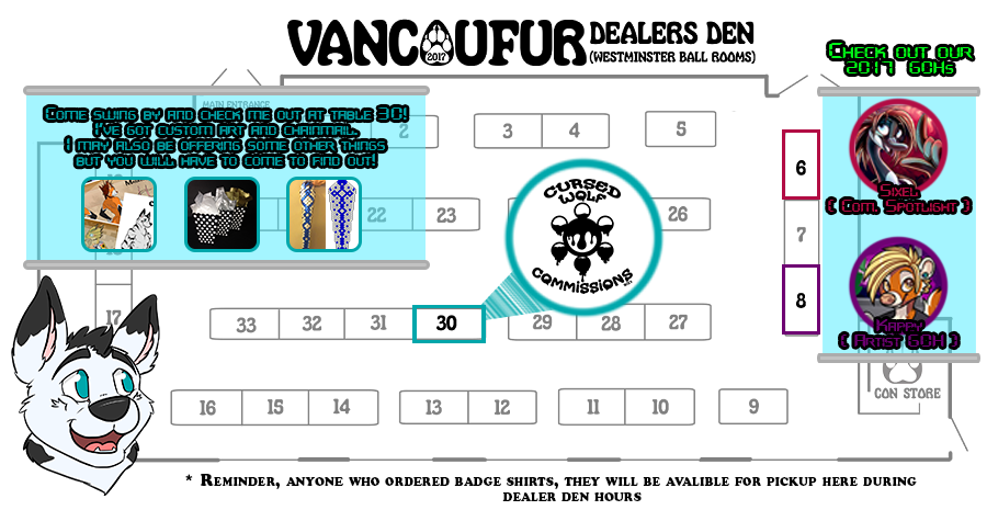 Most recent image: VF2017 Table Layout