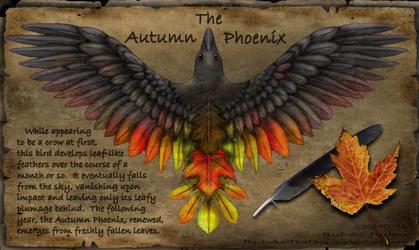 Corvus Brachyrhynchos Autumni, The Autumn Phoenix