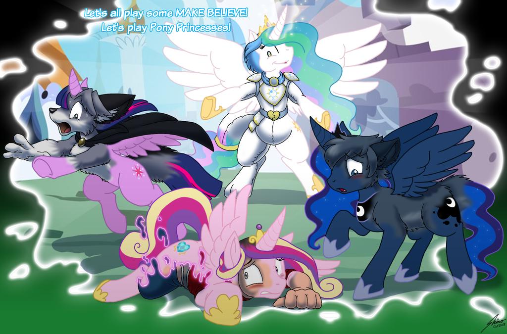 Toast pretend pony princess party playtime