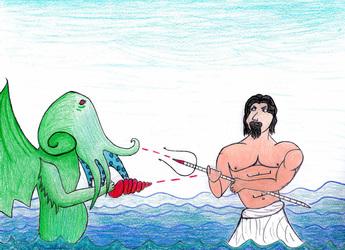 Cthulu vs Poseidon