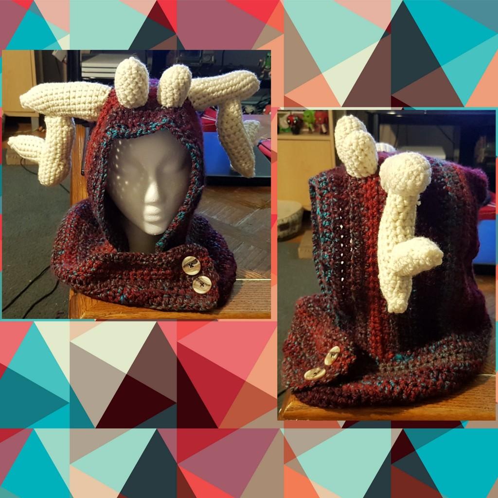 Mythical deer hood