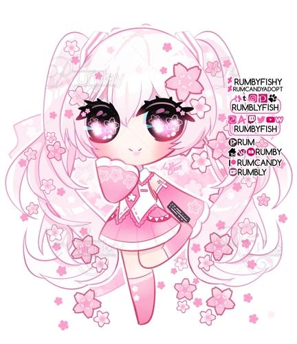 Sakura Miku  🌸 Sticker  🌸 Speedpaint