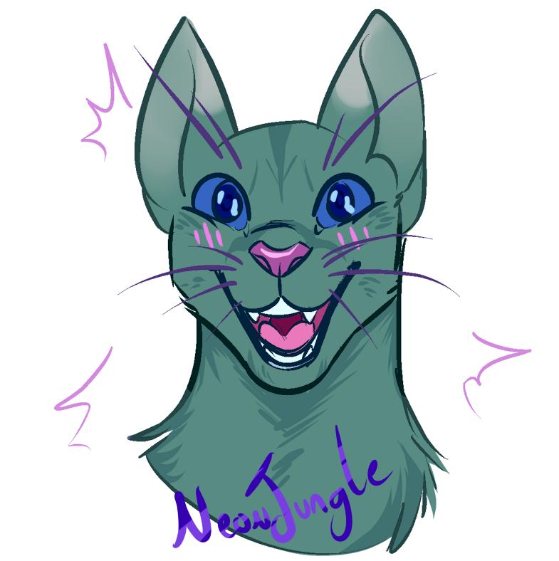 happy cat (by NeonJungle@FA)