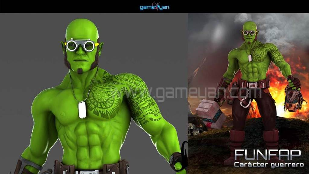 Funifap Warrior Game Character Modeling