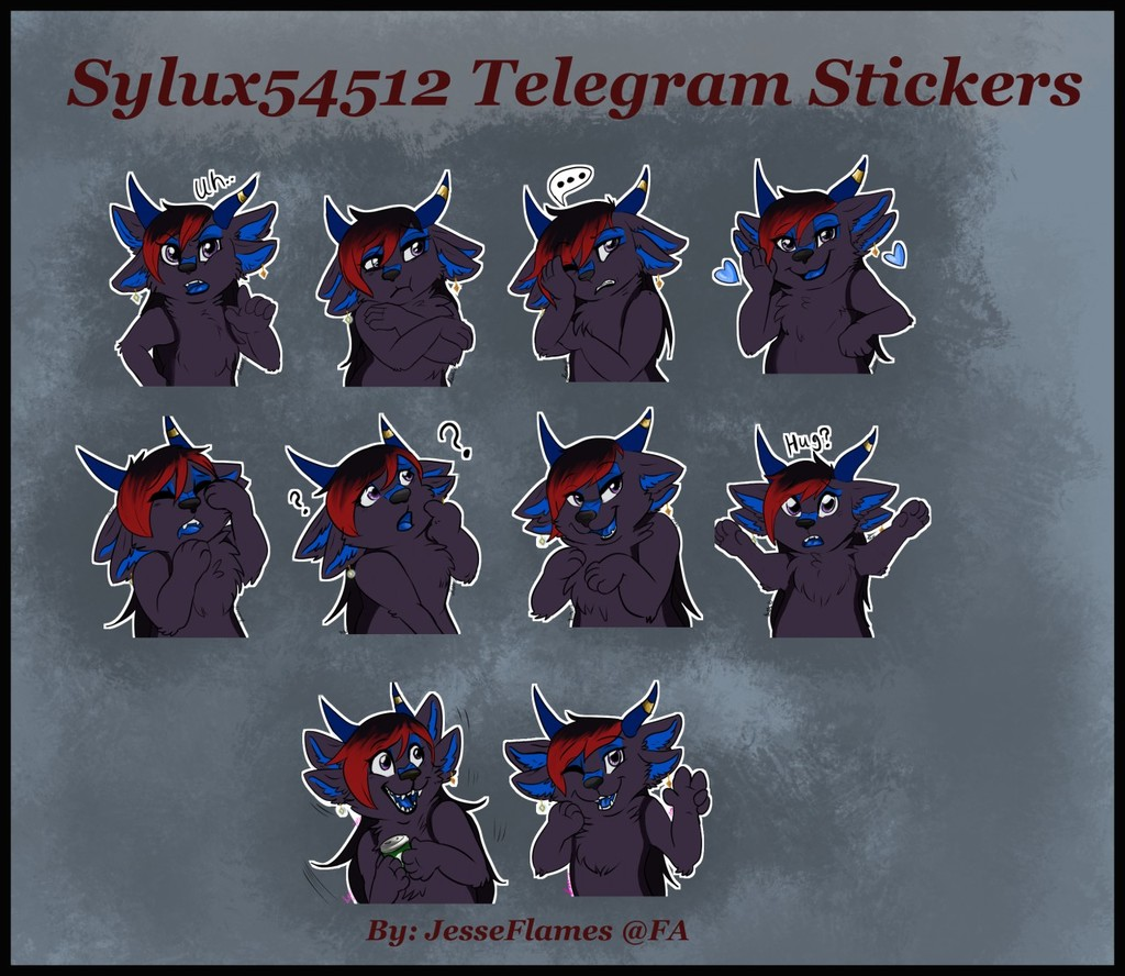 Most recent image: [C] Telegram stickers pack for Sylux54512