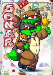 Sonar Christmas Holiday Tag - By TaviMunk