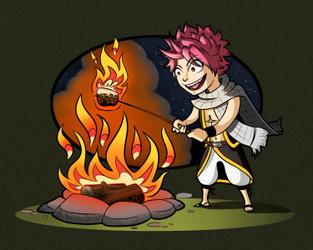 Natsu Goes Camping