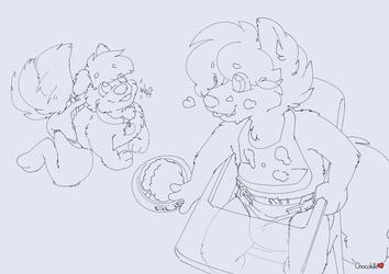 Wolfie's Streams - Messy Dinnertime
