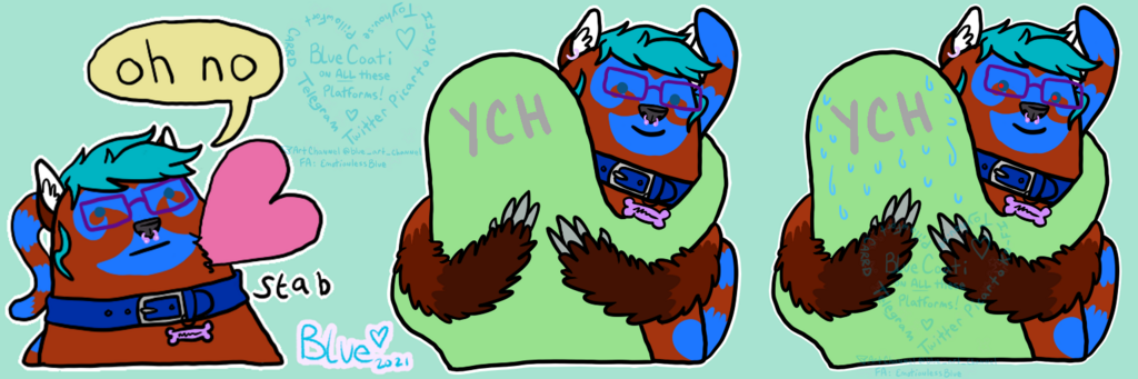 """Featured image: """"oh no"""" - style Fursona stickers"""