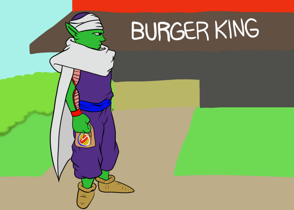 Most recent image: Piccolo at Burger King