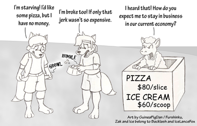Zak and IceFox and the Lousy Beach Vendor
