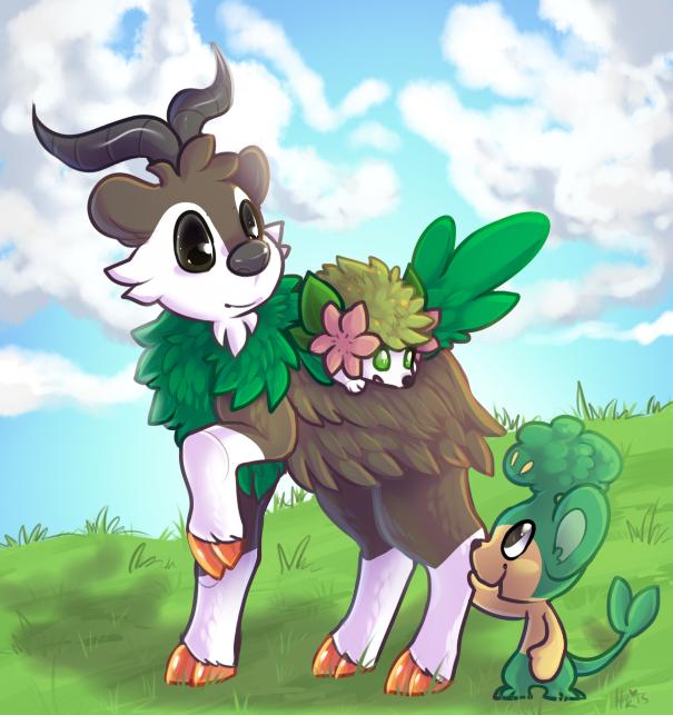 grass pokes