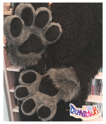 (FOR SALE) Gray Handpaws With Black Pawpads