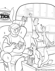 TICA Cat Coloring Book Page 2