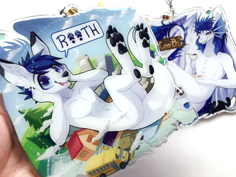 Double-sided badge -- by CinamonCune