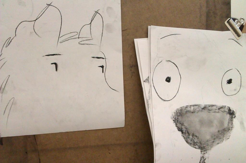Doodling with Conté