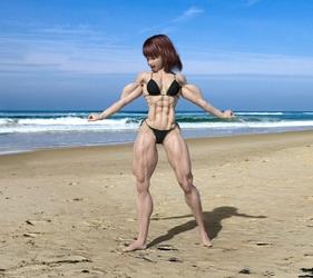 Candi on Beach 2