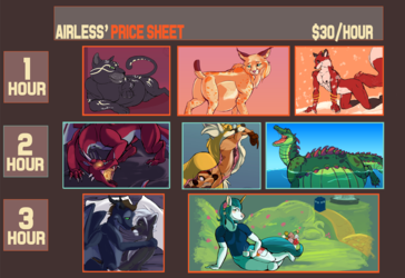 Instant Commissions Price Guide SFW