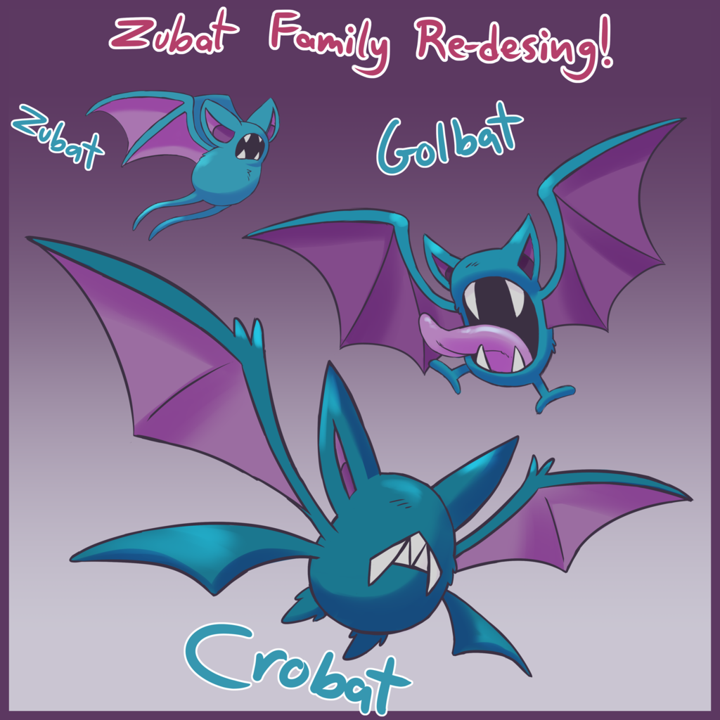 Most recent image: Zubat Family Re-Design