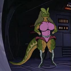 """""""Dinosaucers"""" fan character, Dilophia"""