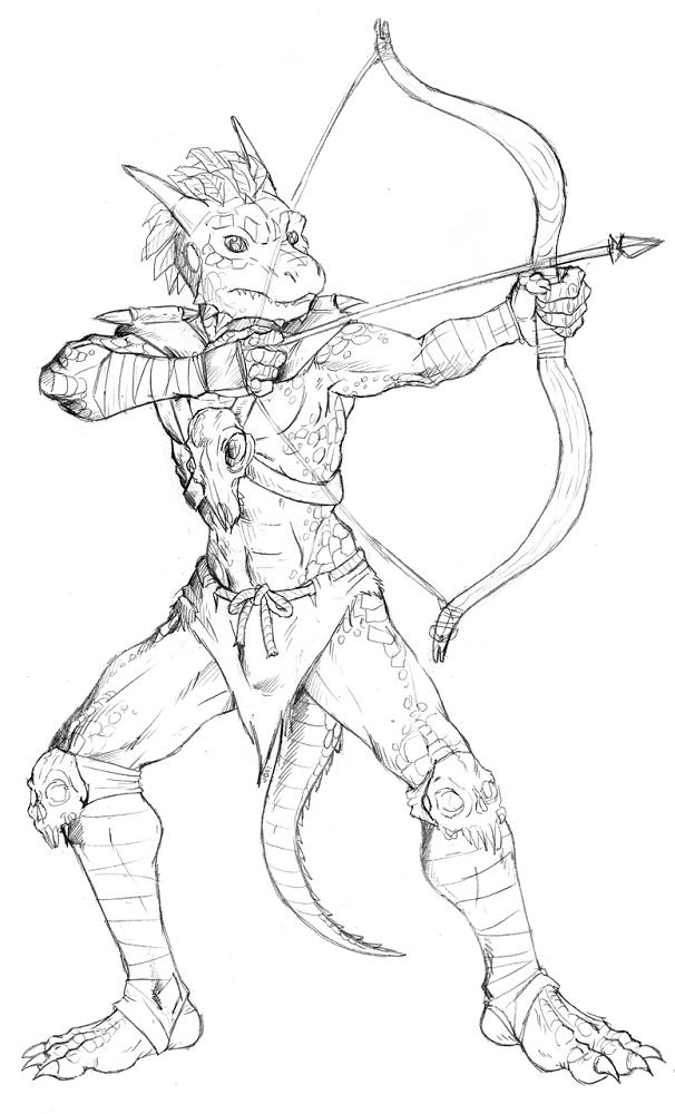 Commission (Sketch) - Hunter