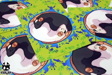 Yin Yang Rat Art Prints