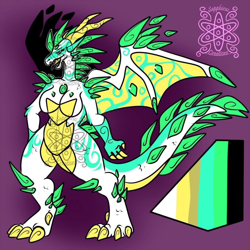 Female Wind/Crystal Dragoness +Design+ (SOLD)