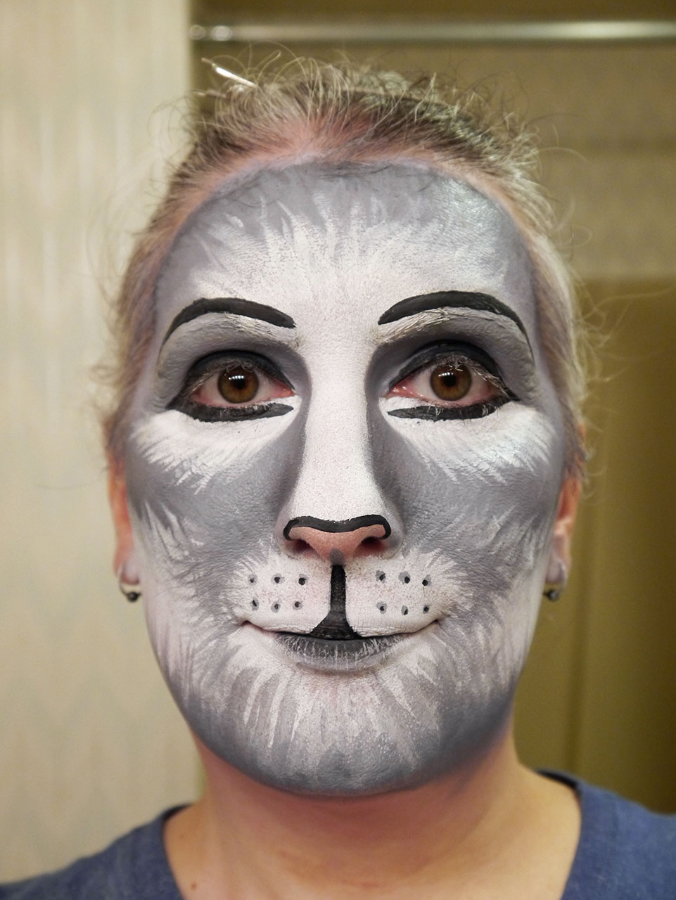 Gray cat makeup practice #2