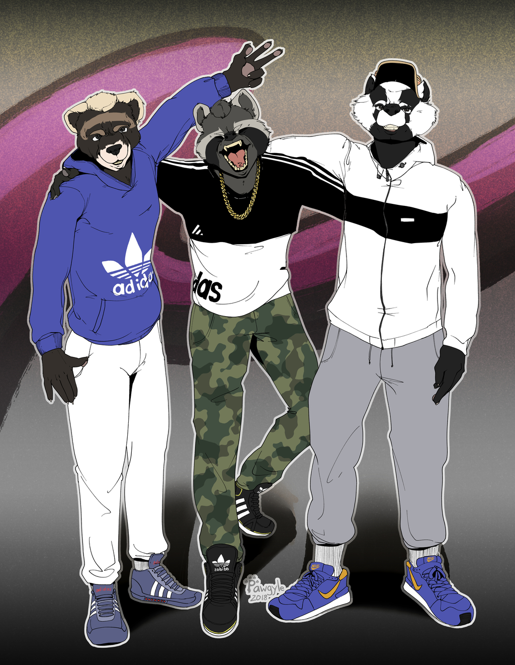 3 chavvy hoodlums.