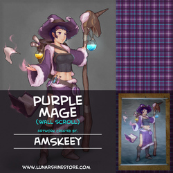 Purple Mage Wall Scroll by AMSkeey