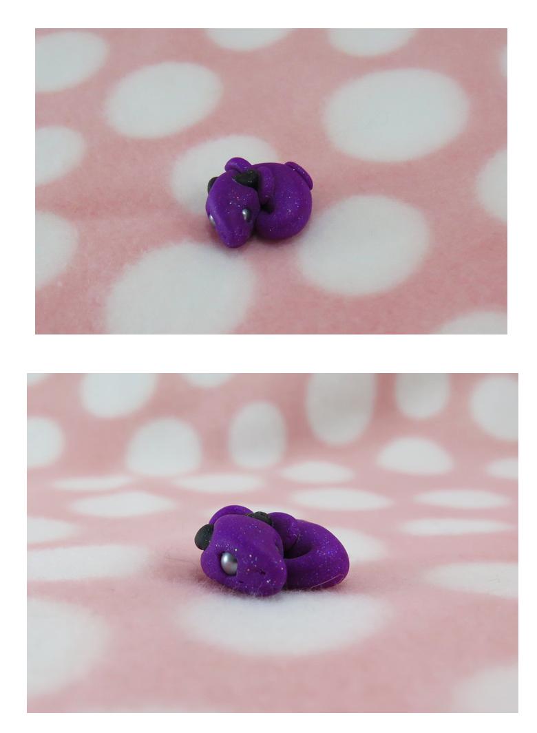 glitter overload purple baby dragon
