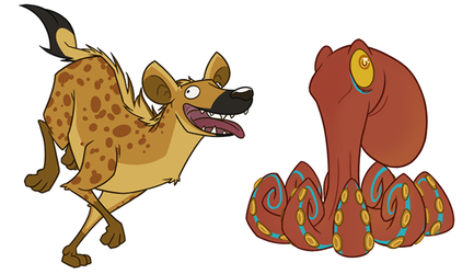 Hyena and Octopus