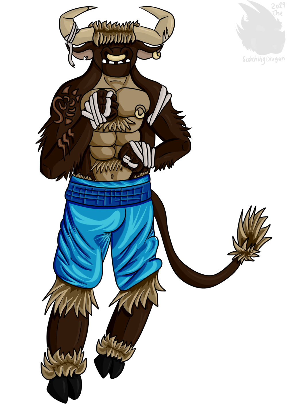 Bull Boxer (Cell shaded version)