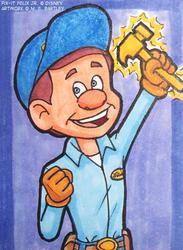 Fix-It-Felix Jr. Art Card