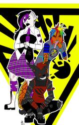 Three punk kids