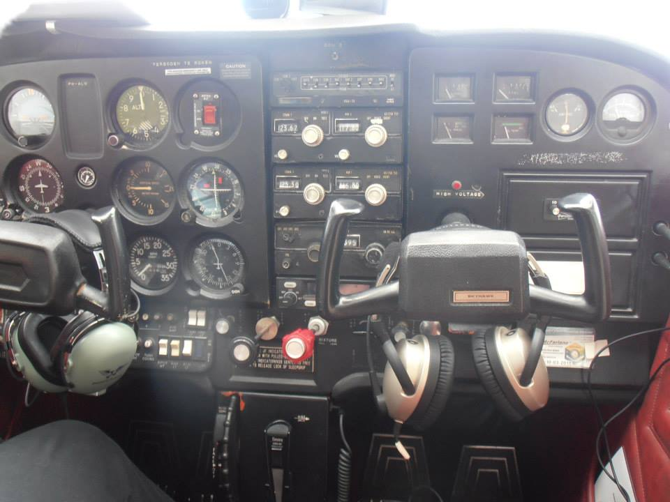 In the pilots' seat...