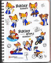 Hukley stickers