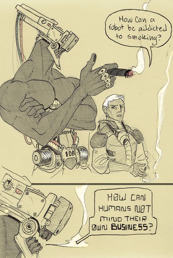 Robot General's Warning