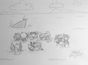 Pencil Sketch: Firewolf66 (1)