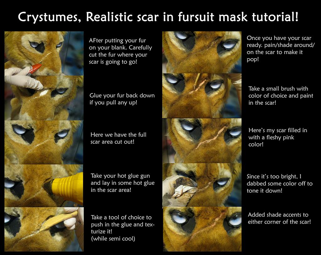 scar in a mask tutorial!