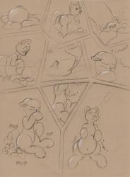 YCH Puffshroom comic 01 Sketch
