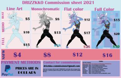 DRIZZKKO COMMISSION SHEET 2021
