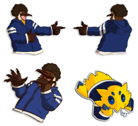 Some stickers