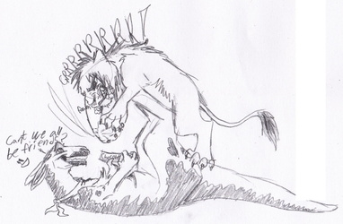 Sketch - By PolarLiger - Why cant we be friends?