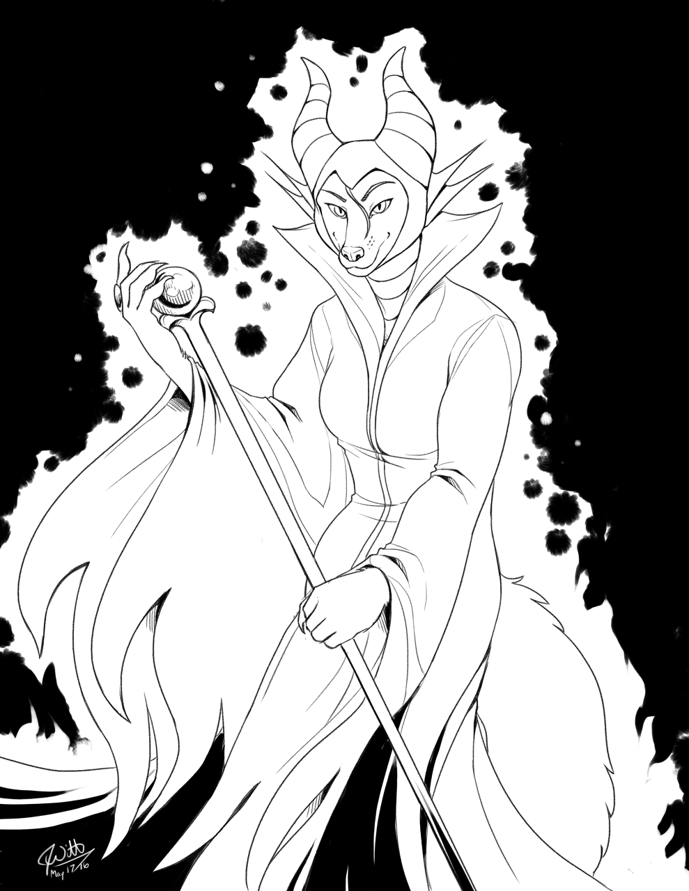 Inked Cosplay - Freya as Maleficent